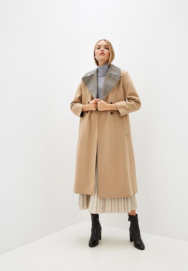 женское пальто french connection, бежевое