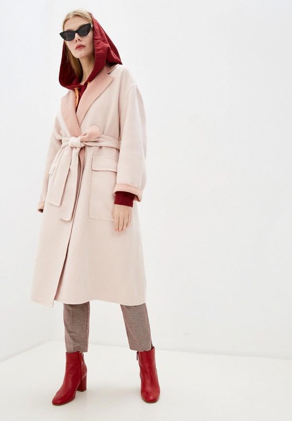 женское пальто french connection, розовое