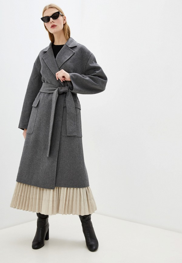женское пальто french connection, серое