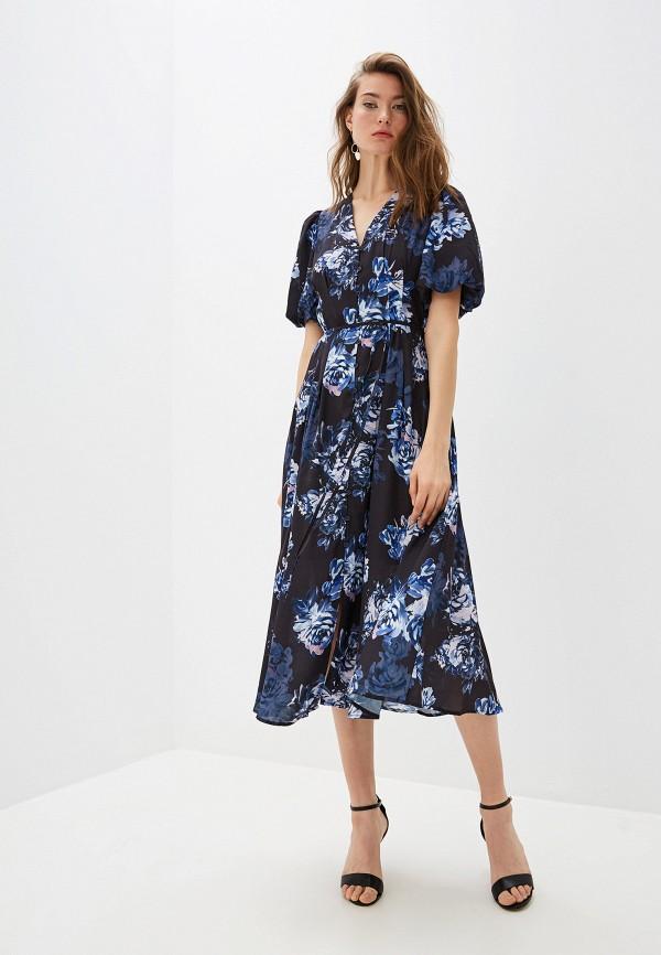 Фото - женское повседневное платье French Connection синего цвета