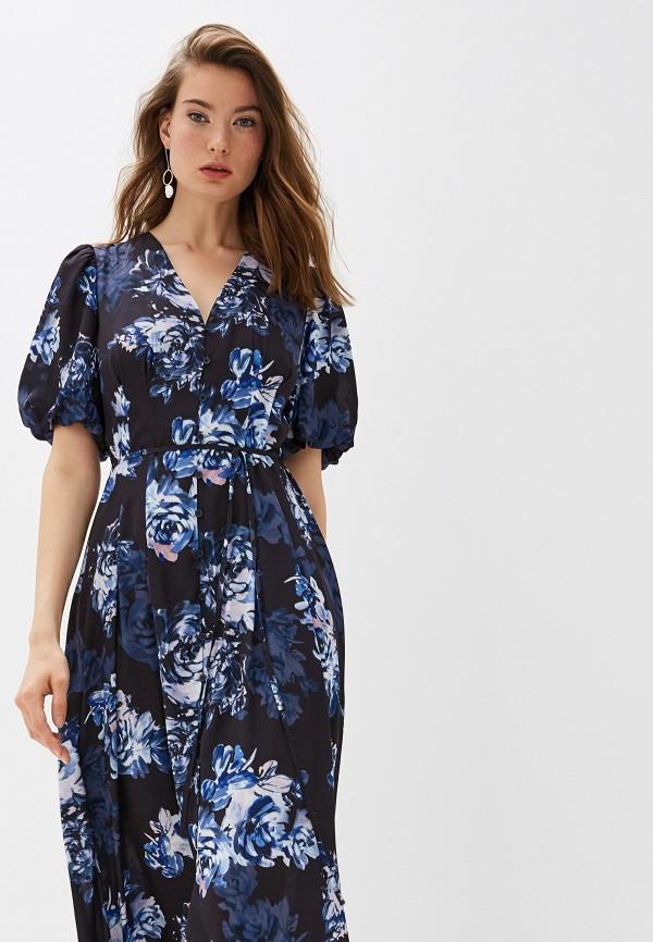 Фото 2 - женское повседневное платье French Connection синего цвета