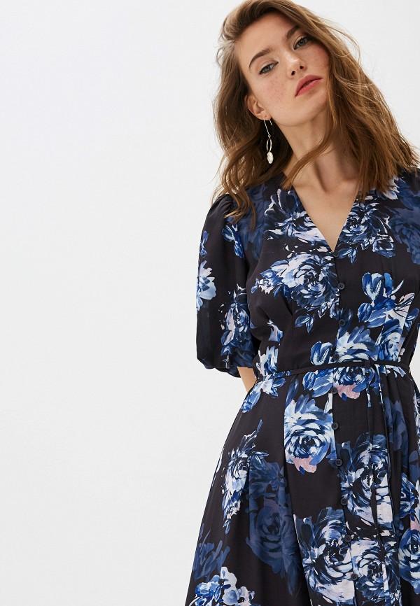 Фото 4 - женское повседневное платье French Connection синего цвета