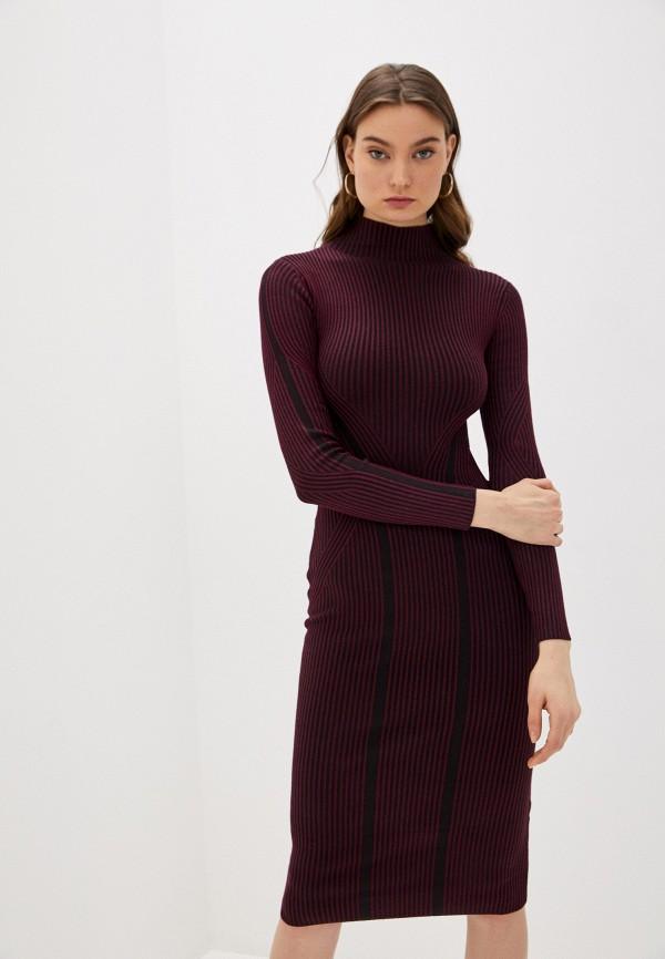 женское платье-свитеры french connection, бордовое