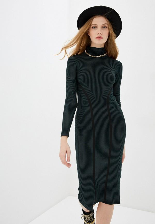 женское платье french connection, зеленое