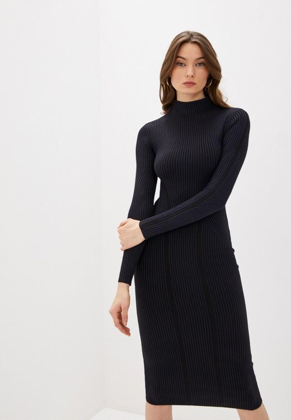 женское платье french connection, синее