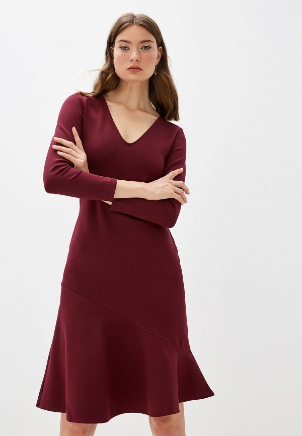 женское повседневные платье french connection, бордовое