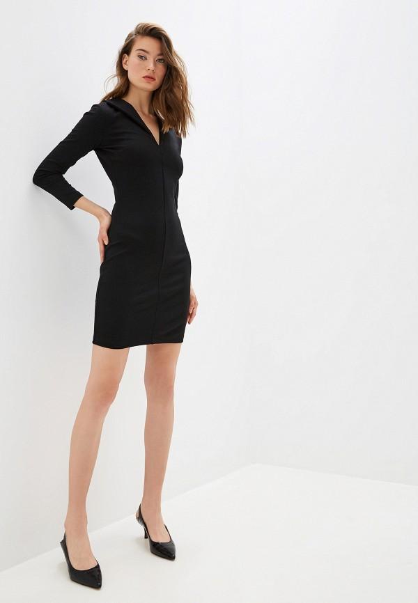 Фото 2 - женское повседневное платье French Connection черного цвета