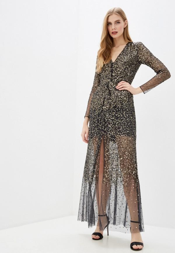 женское вечерние платье french connection, золотое