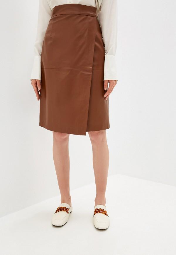 женская юбка french connection, коричневая