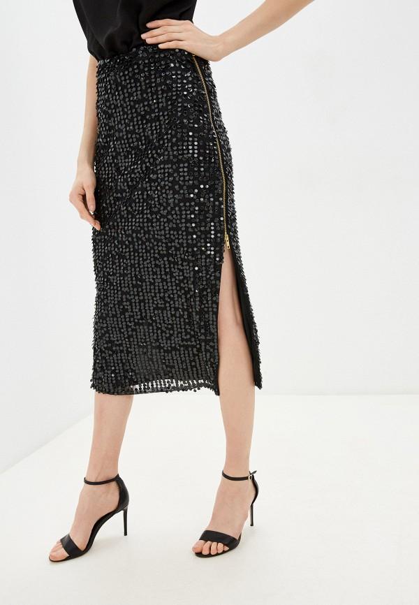 женская зауженные юбка french connection, черная