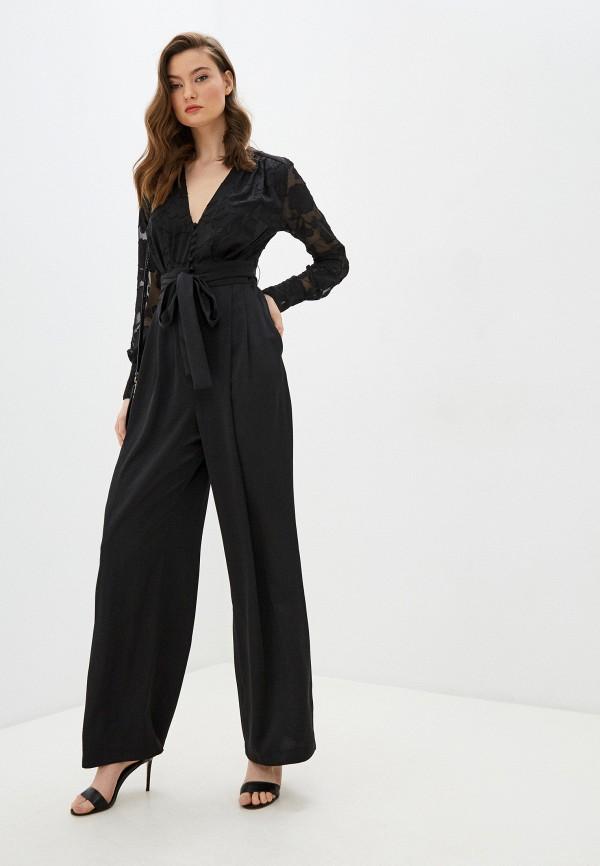 женский комбинезон с брюками french connection, черный