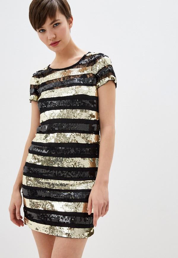 женское платье мини french connection, черное