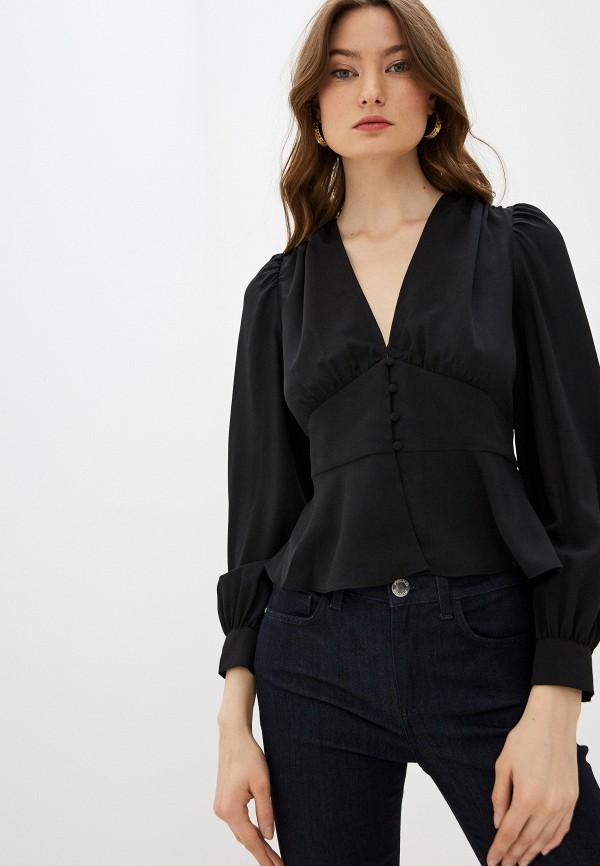 женская блузка french connection, черная