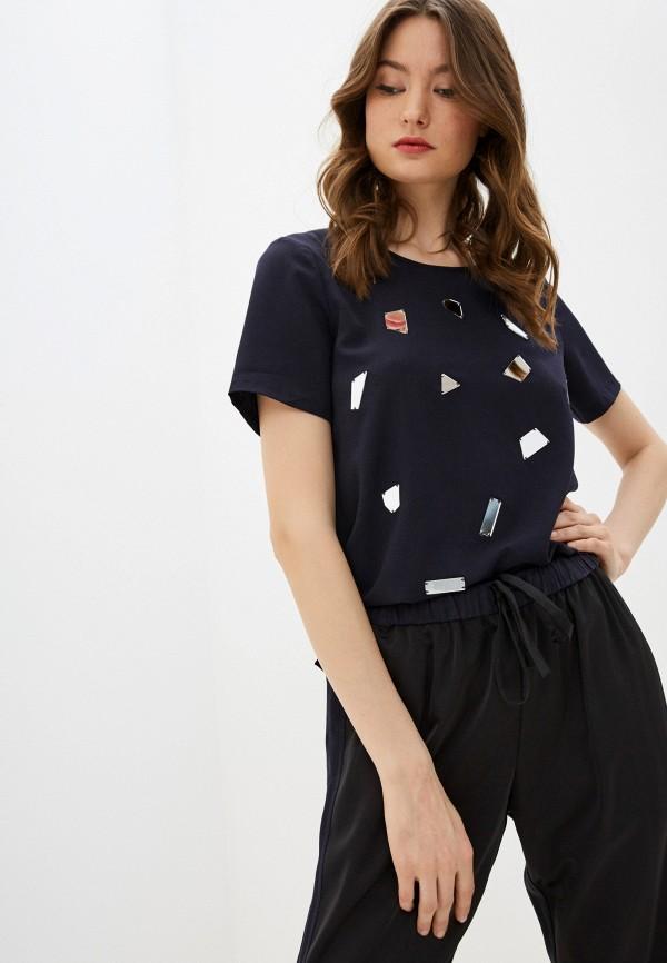 женская футболка french connection, синяя