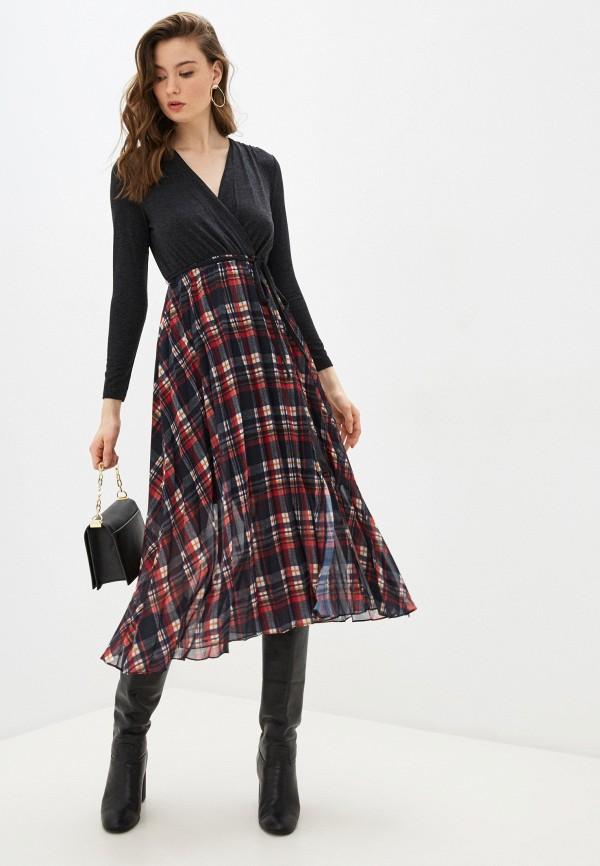 женское платье french connection, серое