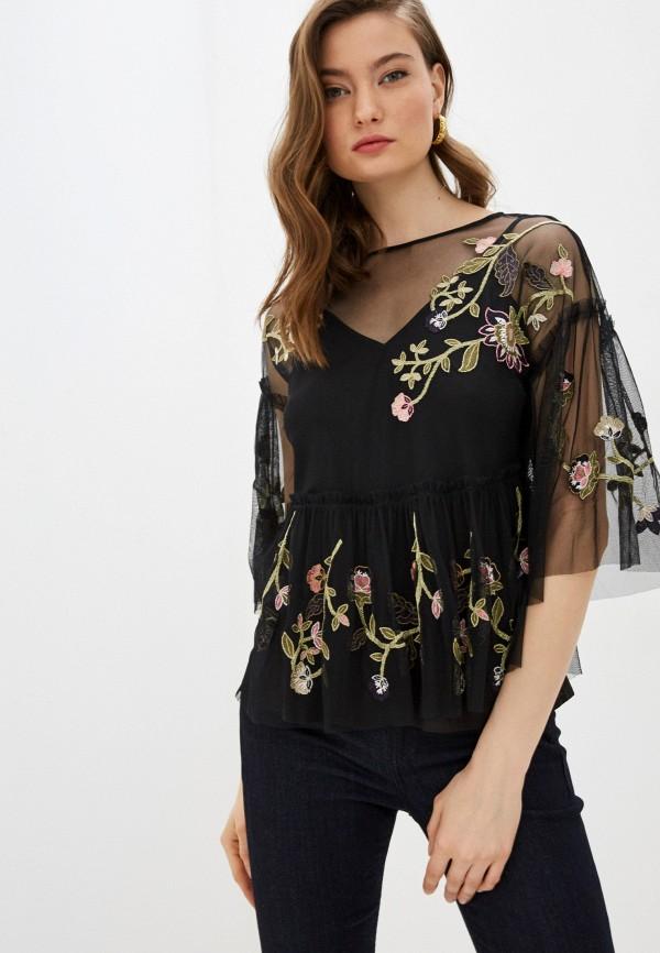 женская блузка с длинным рукавом french connection, черная