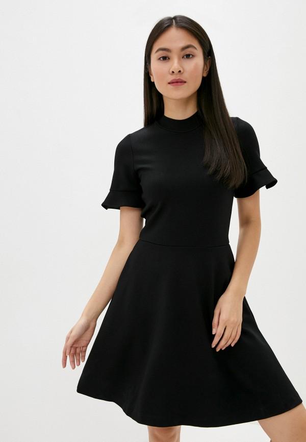 женское повседневные платье french connection, черное