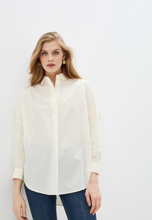 женская блузка с длинным рукавом french connection, бежевая