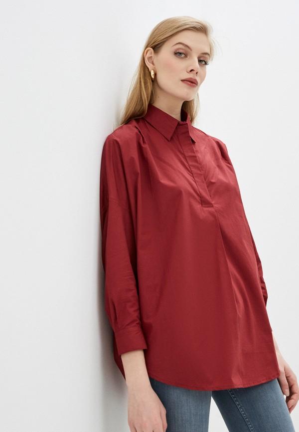 женская блузка с длинным рукавом french connection, красная
