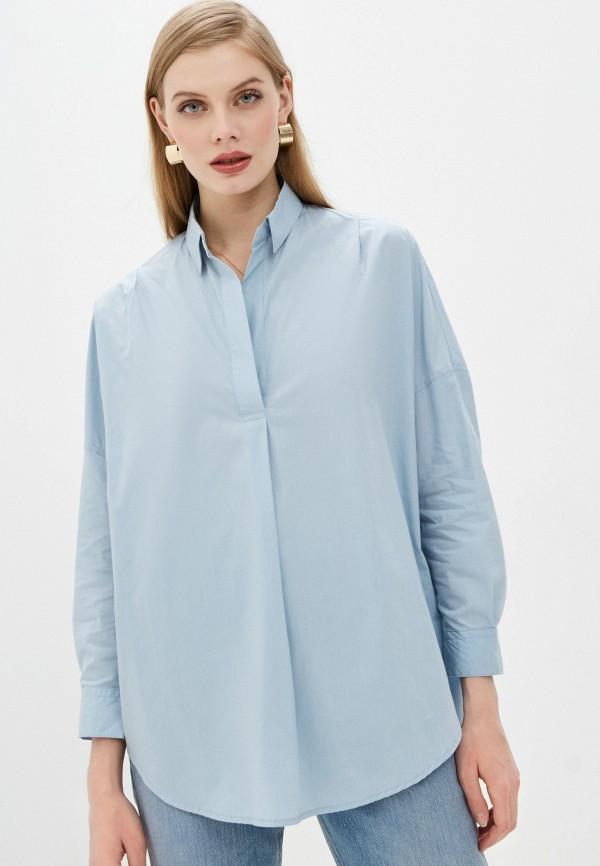 женская блузка french connection, голубая