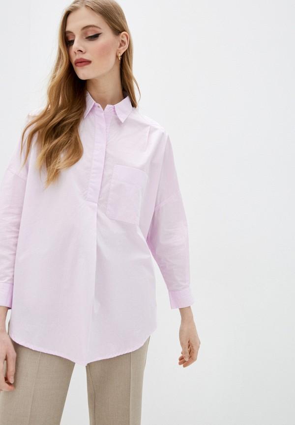 женская рубашка с длинным рукавом french connection, фиолетовая