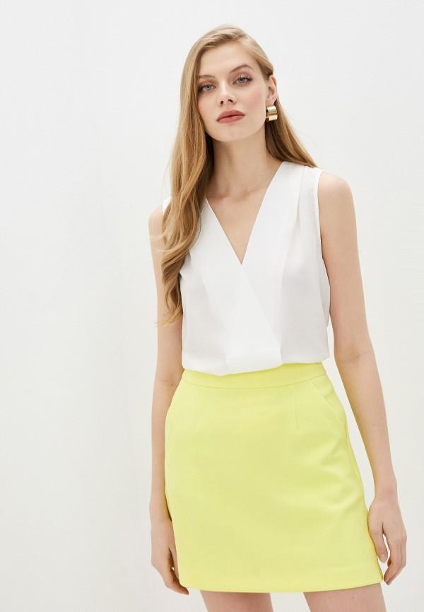 женская блузка без рукавов french connection, белая