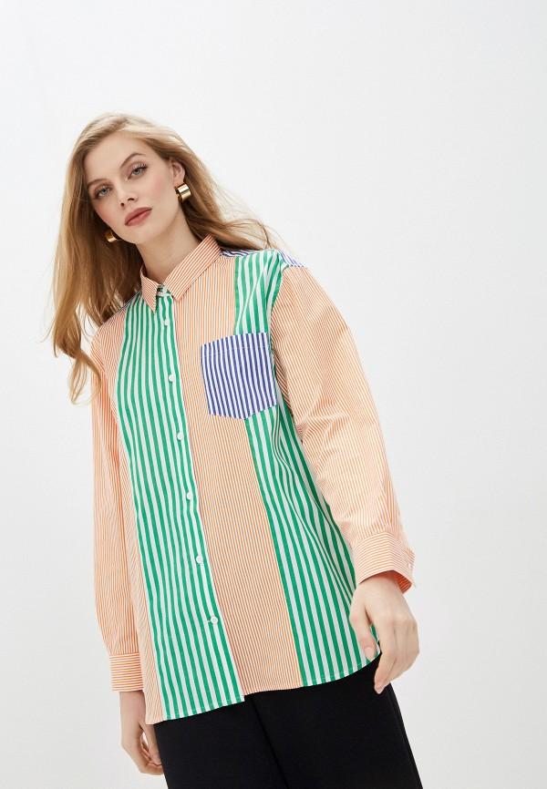 женская рубашка с длинным рукавом french connection, разноцветная