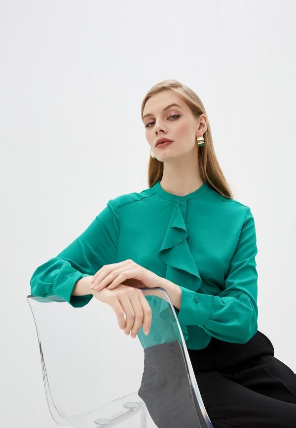 женская блузка с длинным рукавом french connection, зеленая