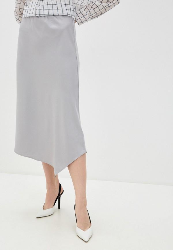 женская юбка-трапеции french connection, серая
