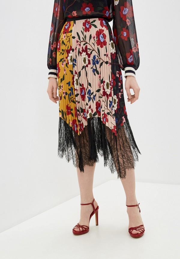 женская плиссированные юбка french connection, бежевая