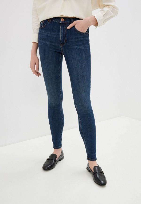 женские джинсы скинни french connection, синие
