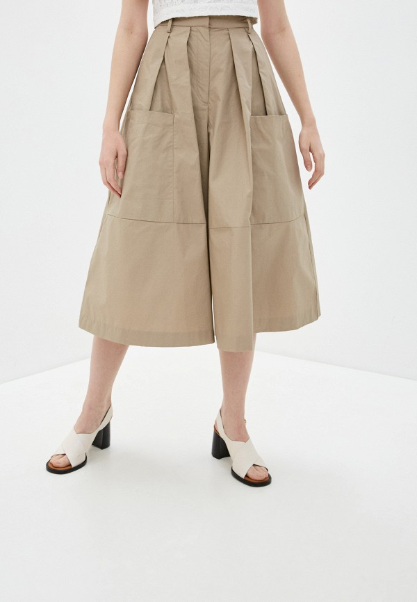 женские брюки кюлоты french connection, бежевые