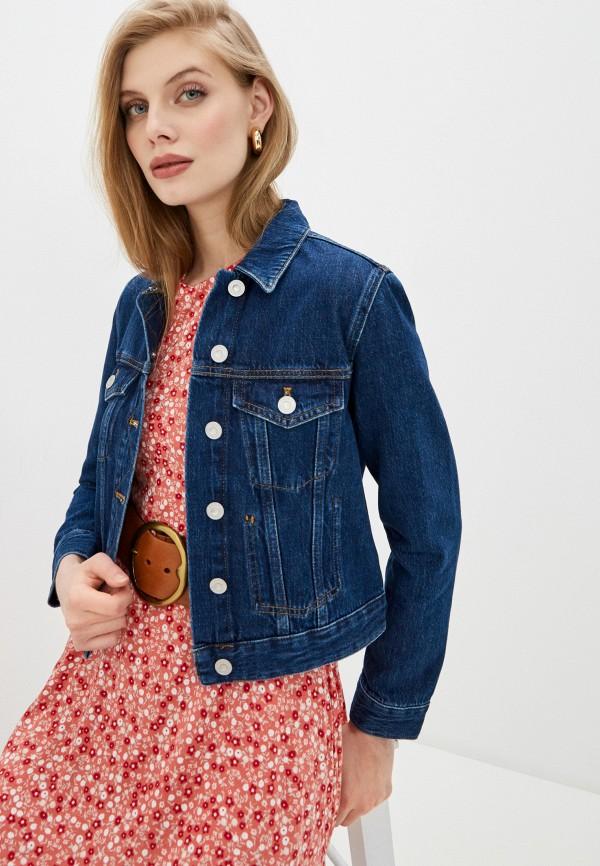 женская джинсовые куртка french connection, синяя