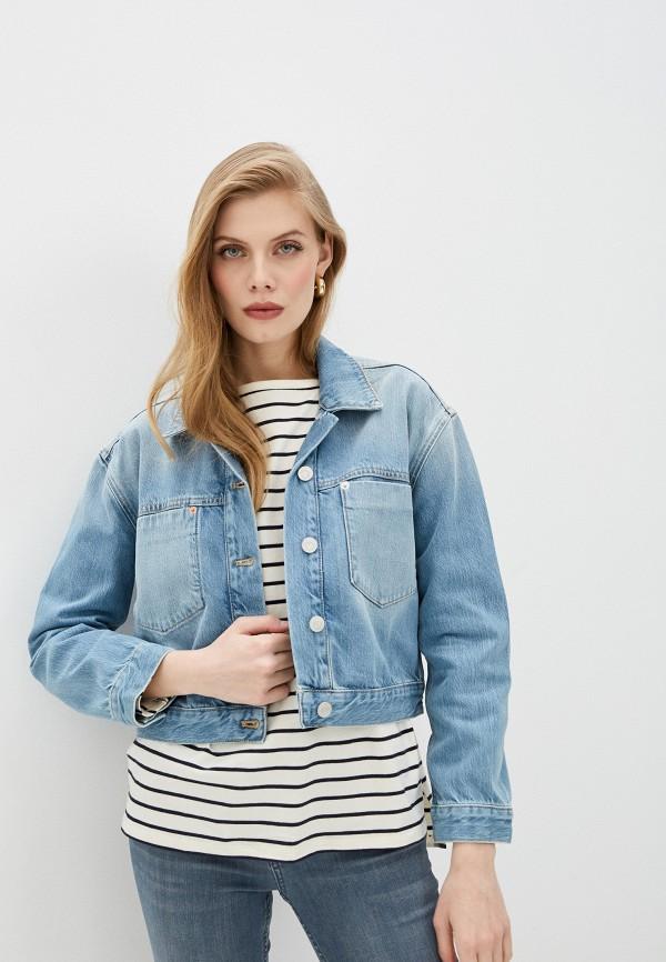 женская джинсовые куртка french connection, голубая
