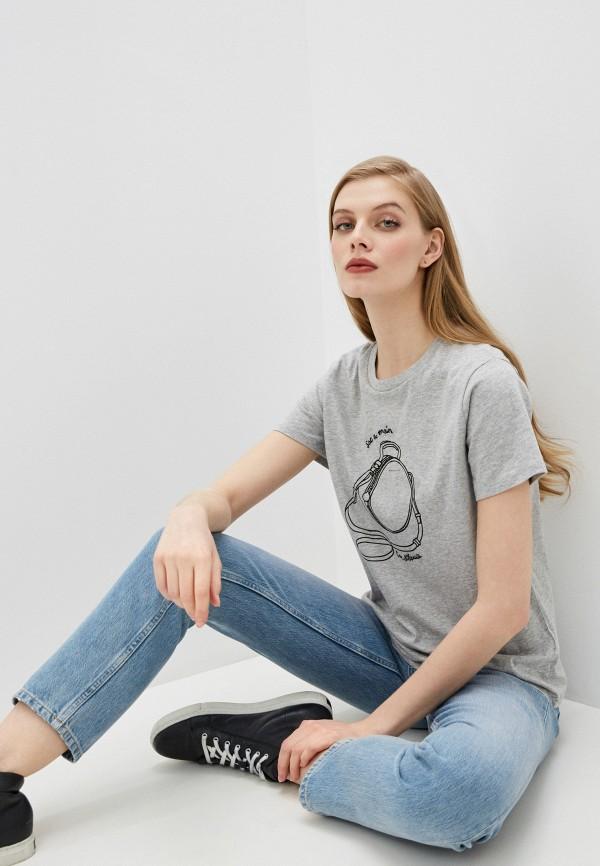 женская футболка french connection, серая
