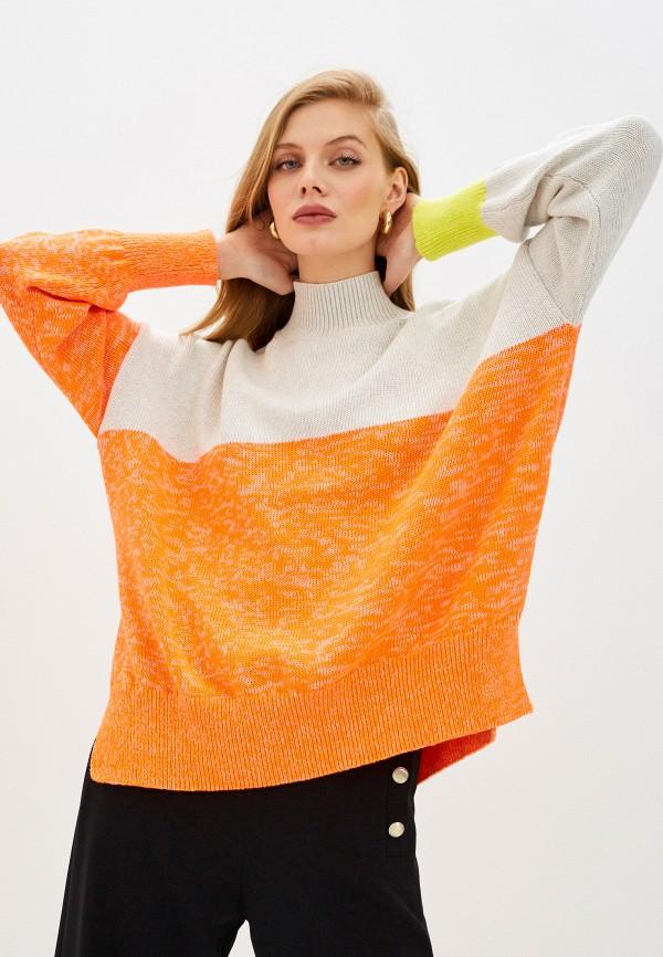 женский свитер french connection, оранжевый