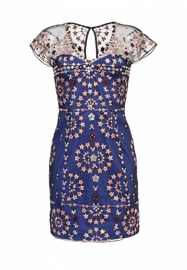 женское вечерние платье french connection, разноцветное