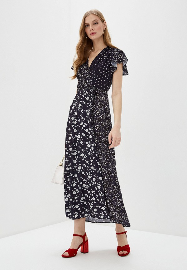 женское платье мини french connection, синее