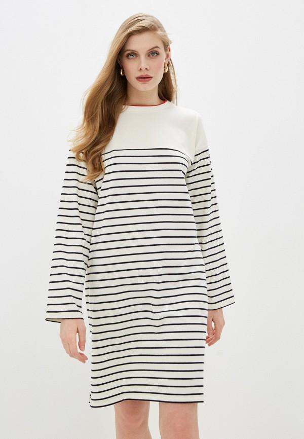 женское платье-футболки french connection, белое