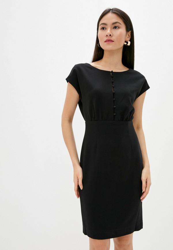 женское платье миди french connection, черное
