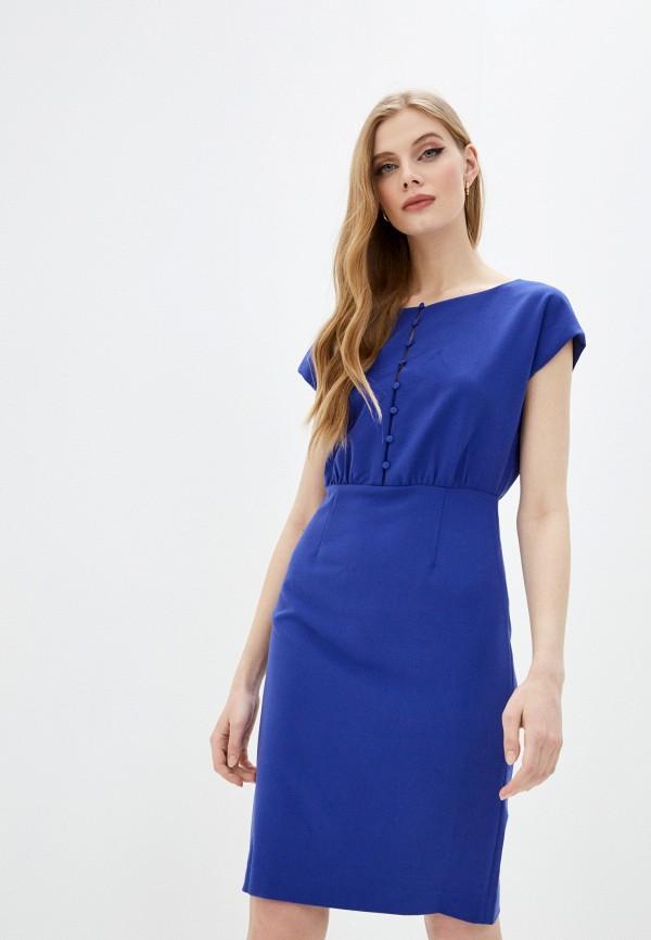 женское повседневные платье french connection, синее