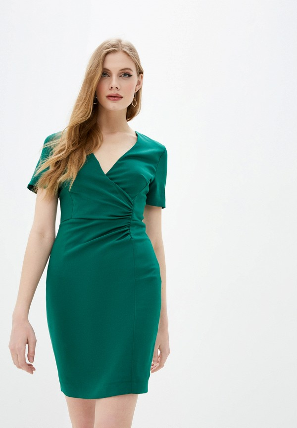 женское повседневные платье french connection, зеленое
