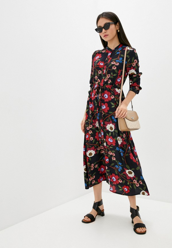 женское платье-рубашки french connection, синее