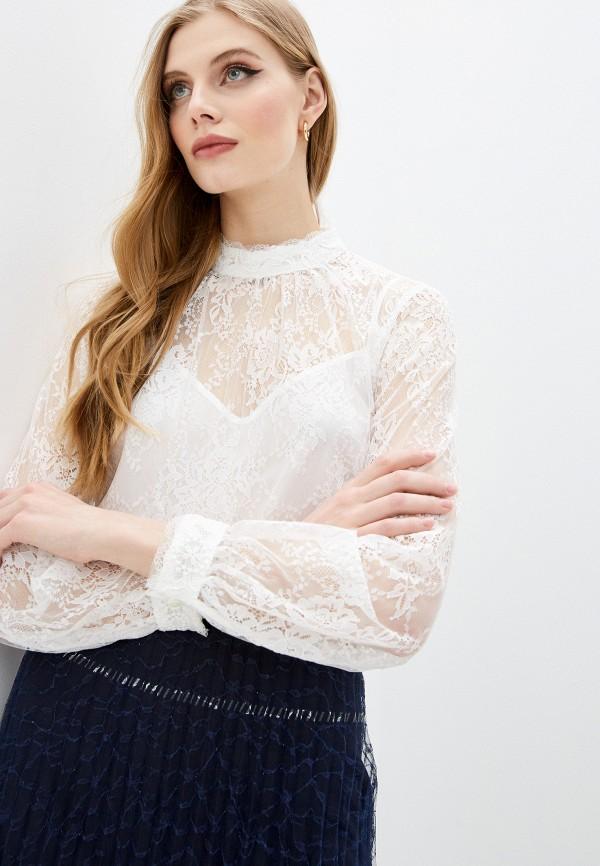 женская кружевные блузка french connection, белая