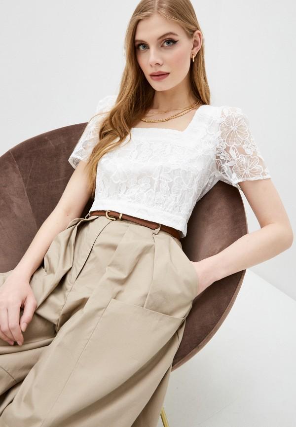 женский топ french connection, белый