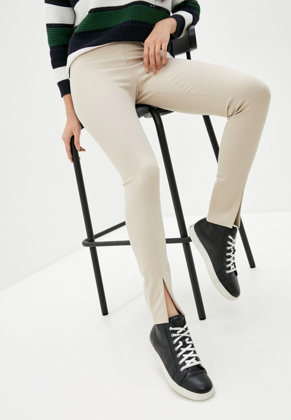 женские повседневные брюки french connection, бежевые