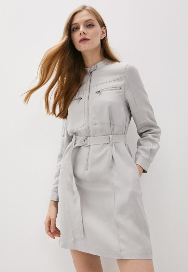 женское повседневные платье french connection, серое