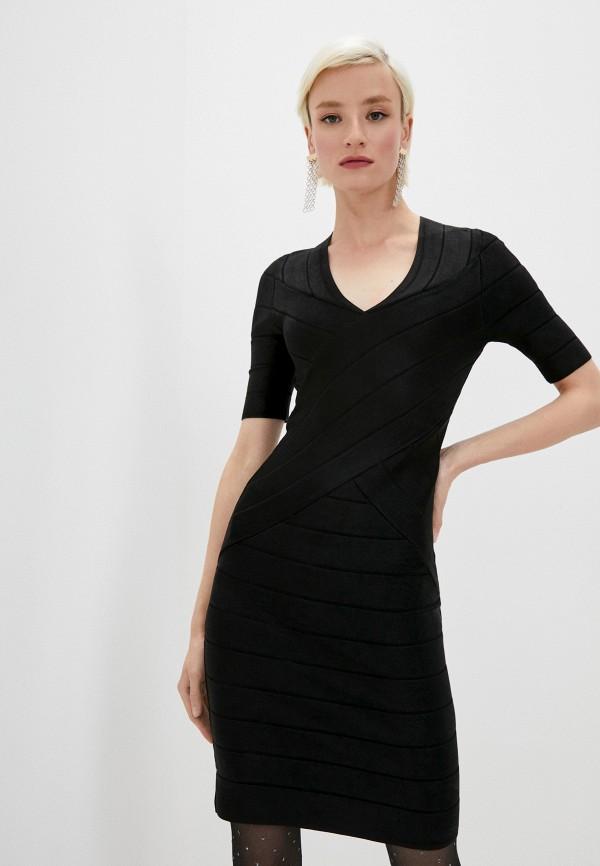 женское платье-футляр french connection, черное