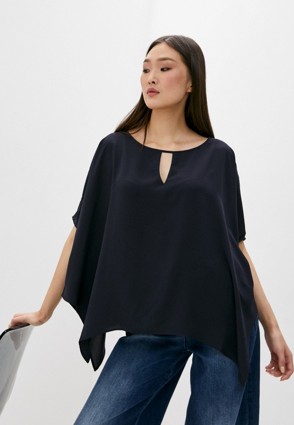 женская блузка french connection, синяя