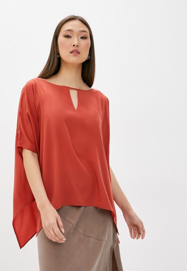 женская блузка french connection, красная